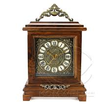 2016 new fashion classic wooden desk clock vintage rectangle home decoration masa saati hourly chiming quartz bamboo clock kz17 in desk table clocks from