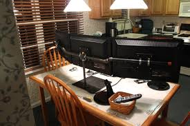 Make Your Own Computer Desk Diy Triple Monitor Stand Monitor Stand Monitor And Desks
