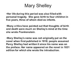frankenstein or the modern prometheus mary shelley born in 4 her