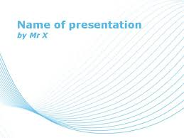 Blue Power Point Templates Blue Lines Over White Background Powerpoint Template