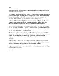 Letter To Airline Airline Complaint Letter