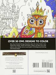 Amazon Com Creative Haven Owls Coloring Book Adult Coloring