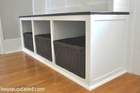 entry storage brown wicker storage baskets