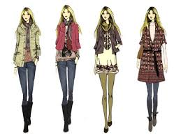 fashion boots drawing. thick sweater with skinny tights and soft bunchy boots, jacket a light brown scarf beautiful designer shirt flat, fashion boots drawing