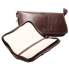 details about wychwood fishing leather fly wallets small large available waterproof