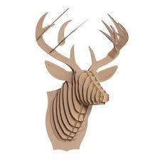 3d cardboard safari wall mounted trophy decor large brown