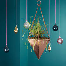Hanging Planter Copper Geometric Hanging Planter By London Garden Trading