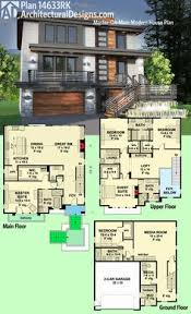 ideas about Modern House Plans on Pinterest   House plans    Architectural Designs Modern House Plan RK gives you beds including a master suite   its