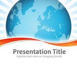 Blue And Orange Powerpoint Template Global Logistics Powerpoint Template