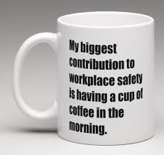 office coffee mug. workplace safety office coffee mug tea cup funny gag silly coworker gift