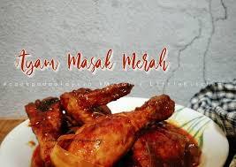 Haluskan bawang merah, cabai merah kering, dan jahe untuk kuah percik. Resep Ayam Masak Merah Bisa Manjain Lidah