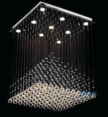 clarissa crystal drop rectangular chandelier small round