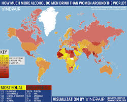 Map Do More Than Women World Men Around Alcohol How Vinepair The Much Drink