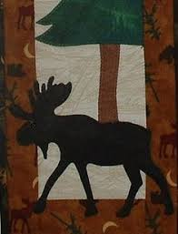 Hidden Lake Moose Toni Whitney Animal by AliceInStitchesArts ... & Moose on the Loose - Quilted Lodge Style Wall Hanging Pattern Adamdwight.com