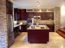 Travertine Flooring In Kitchen Contemporary Kitchen With Kitchen Island L Shaped In Newcastle