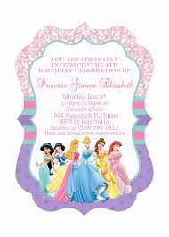 birthday invitation disney princesses birthday invitations new disney princess birthday invitations