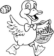 Coloriage Canard De Paques Imprimer Sur Coloriages Info