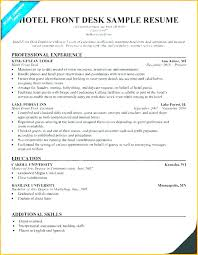 Hotel Front Desk Resume Examples Best Of Sample Front Desk Resume Yomm