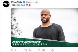 Jets wish Bennett Jackson happy birthday then release him, delete tweet