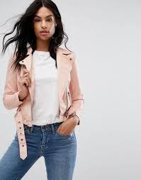 vero moda petite leather look belted biker jacket women rose cloud jackets vero moda biker jacket exclusive deals