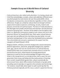 background essay example personal background essay organizational  sample essay on a world view of cultural diversity cultural diversity is also called multiculturalism