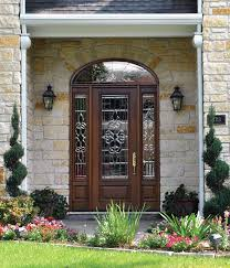 Elegant Front Entry Doors Glass With Matching Sidelights And Throughout Creativity Design