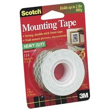 double sided poster tape scotch 114 mounting tape white pic1