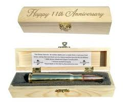 11th anniversary gifts for husband steel anniversary gifts bullet pen engraved gift box 11th wedding anniversary gifts for men
