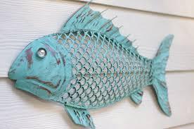 metal fish decorations for walls