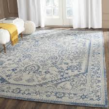 awesome safavieh patina light gray blue area rug reviews wayfair intended for grey and blue area rug
