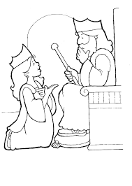 Queen Esther Coloring Page Bible Story Printable Childrens