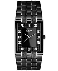 17 best images about mens bulova diamond watches in stainless steel black ion plating black patterned dial individually hand set 8 diamonds curved metalized cry this striking bulova watch