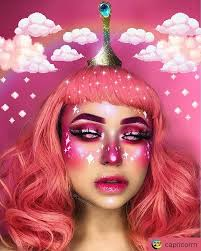 princess bubblegum makeup body painting art idea by capricorrn your friend who ll