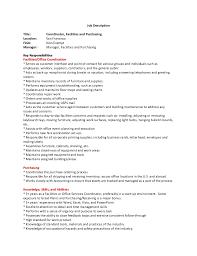 Resume Format For A Job Classy Facilities Coordinator Job Description Kubreeuforicco