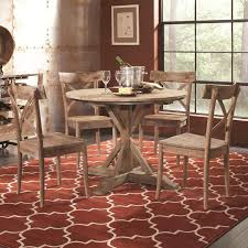 30 dining table set pertaining to largo callista rustic casual round and side chair decorations 2
