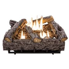 timber creek vent free dual fuel gas log set with thermostat