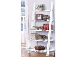 Bookshelf, Surprising Ladder Shelf Ikea Narrow Bookcase White Ladder Shelf  With Books And Decorations: ...