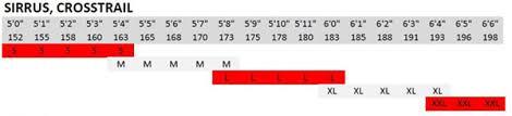 Specialized Crosstrail Bike Size Chart Specialized Crosstrail Frame Size Chart Lajulak Org