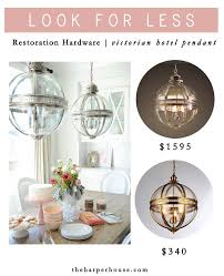 Knock Off: Restoration Hardware Victorian Hotel Pendants   Find The Look  For MUCH Less On The Blog Www.theharperhouse.com