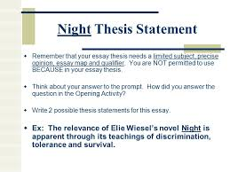 night elie wiesel essay topicswriting an… e xcellent paragraph for an e ssay night literary     night
