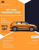 Plus, this template is compatible with google docs, ms word, and pages for your convenience. 640 Car Insurance Flyer Customizable Design Templates Postermywall
