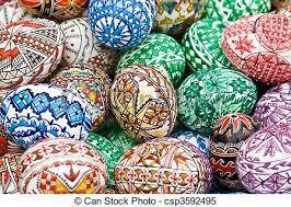 Resultado de imagen de huevos pintados de rumania