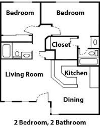 diagram floor plan of a 2 bedroom apartment flat at the drake diagram floor plan of a 2 bedroom 2 bathroom apartment at the willows apartments