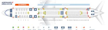 Airbus A340 Jet Seating Chart Seat Map Airbus A340 300 Air France Best Seats In Plane