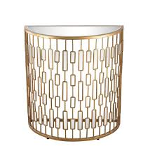 gold metal mirror half circle console table for remodel 1