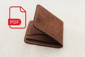 leather wallet bifold pdf pattern