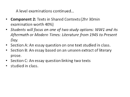english literature a s and a level othello a s exams component  4 a