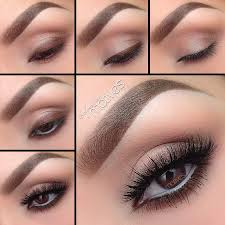 clic brown makeup look that is ideal for everyday wear from weekdays at the office