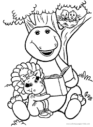 Small Picture Barney color page Coloring pages for kids Cartoon characters