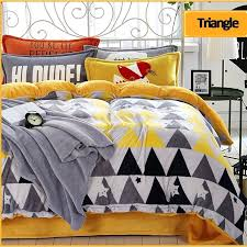 grey and yellow duvet cover nz gray yellow duvet cover fashion triangular warm fluffy plush thick